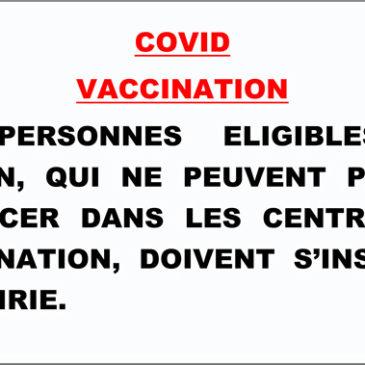 COVID 19 : Inscription vaccination