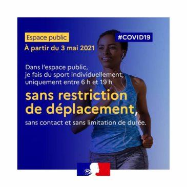 COVID 19 – Reprise des activités physiques